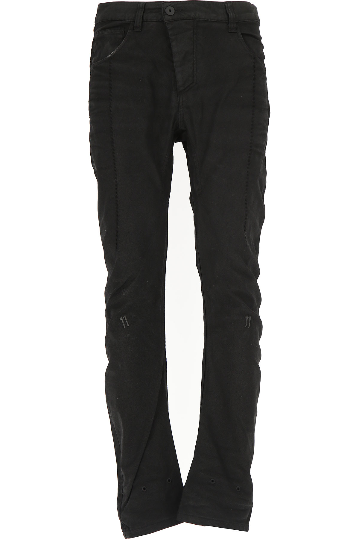 11 BY BORIS BIDJAN SABERI Jeans On Sale, Black, Cotton, 2017, 32 34
