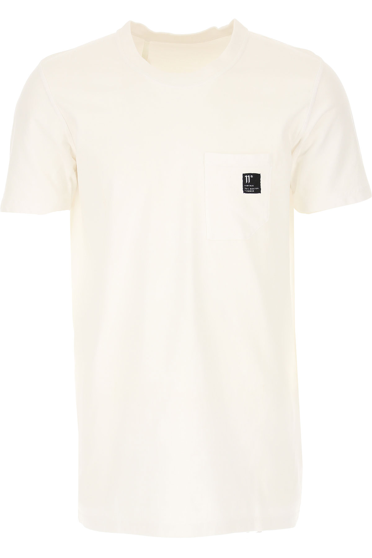 11 BY BORIS BIDJAN SABERI T-Shirt for Men, White, Cotton, 2017, L M
