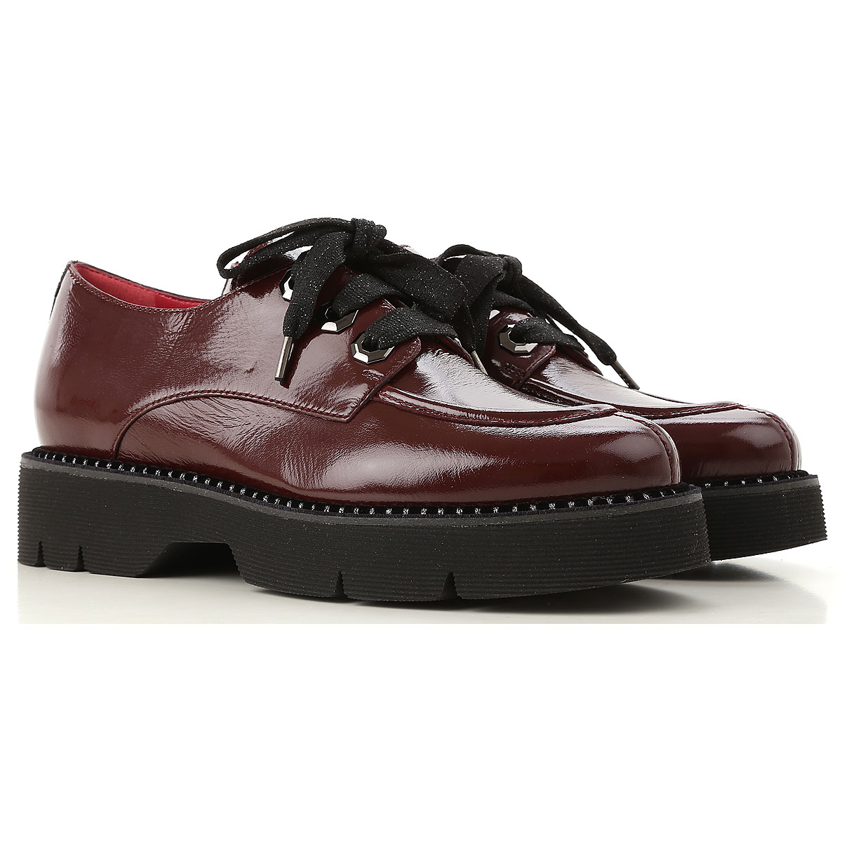 Image of 181 Lace Up Shoes for Men Oxfords, Derbies and Brogues, Aubergine, Patent Leather, 2017, 10 8 8.5 9
