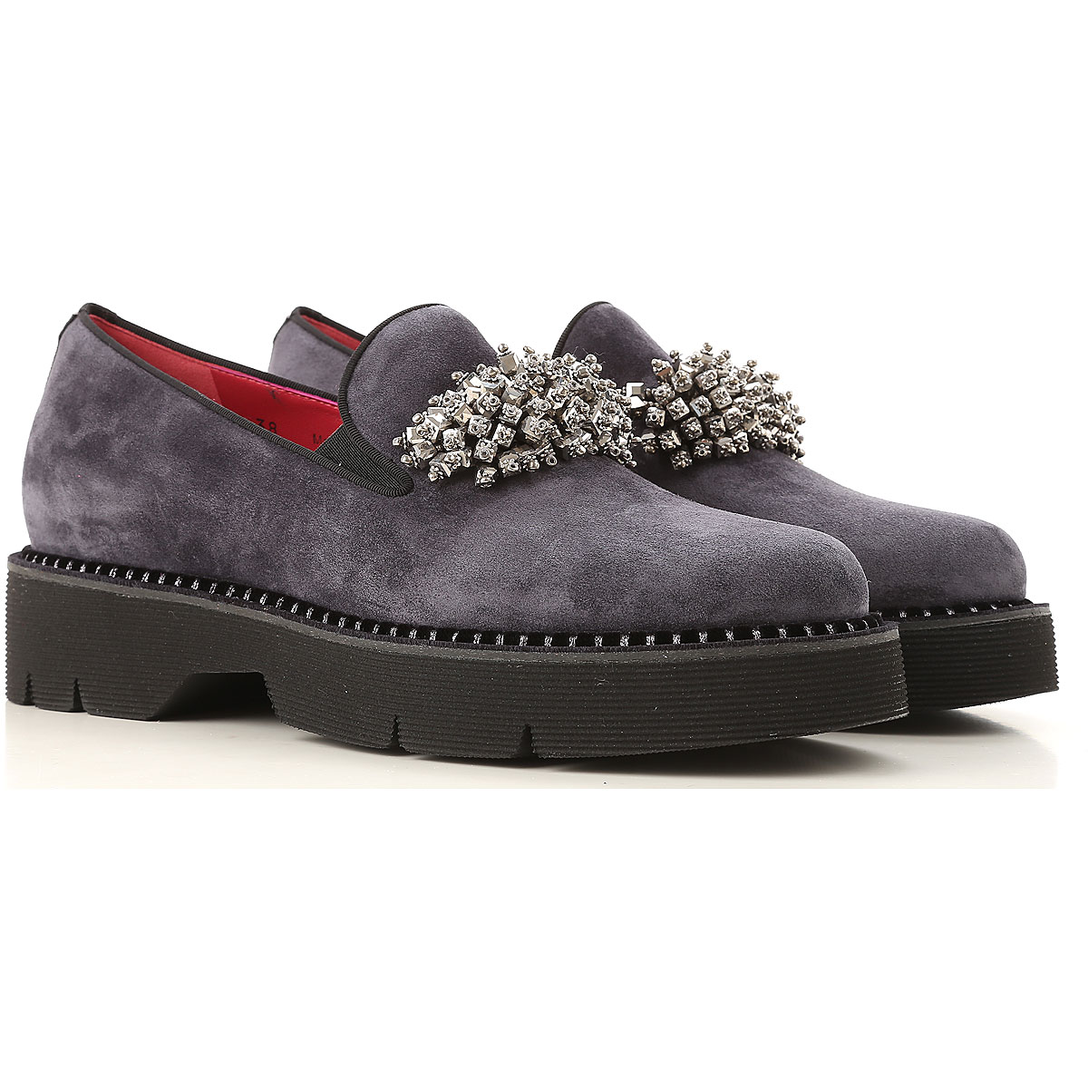 Image of 181 Loafers for Women, antracite, Suede leather, 2017, 10 7 8 9