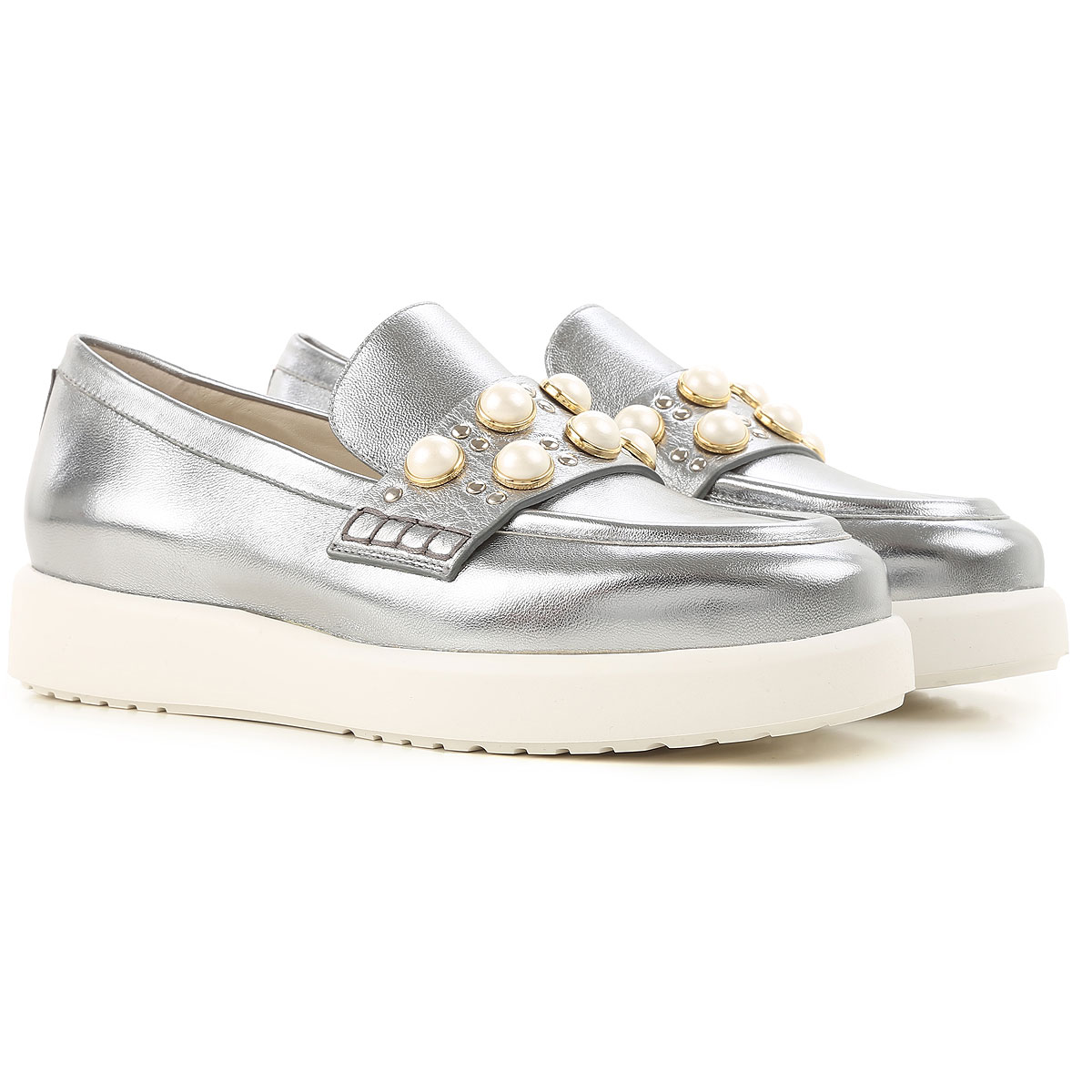Image of 181 Loafers for Women On Sale, Steel, Leather, 2017, 6 8 8.5 9