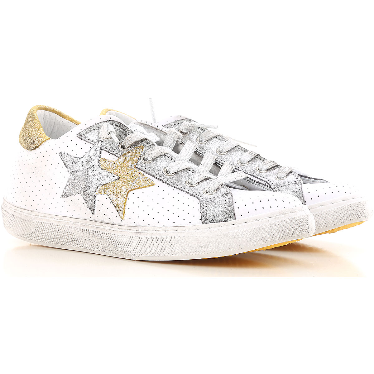 Image of 2Star Sneakers for Women, White, Leather, 2017, 10 5 6 7 8 9