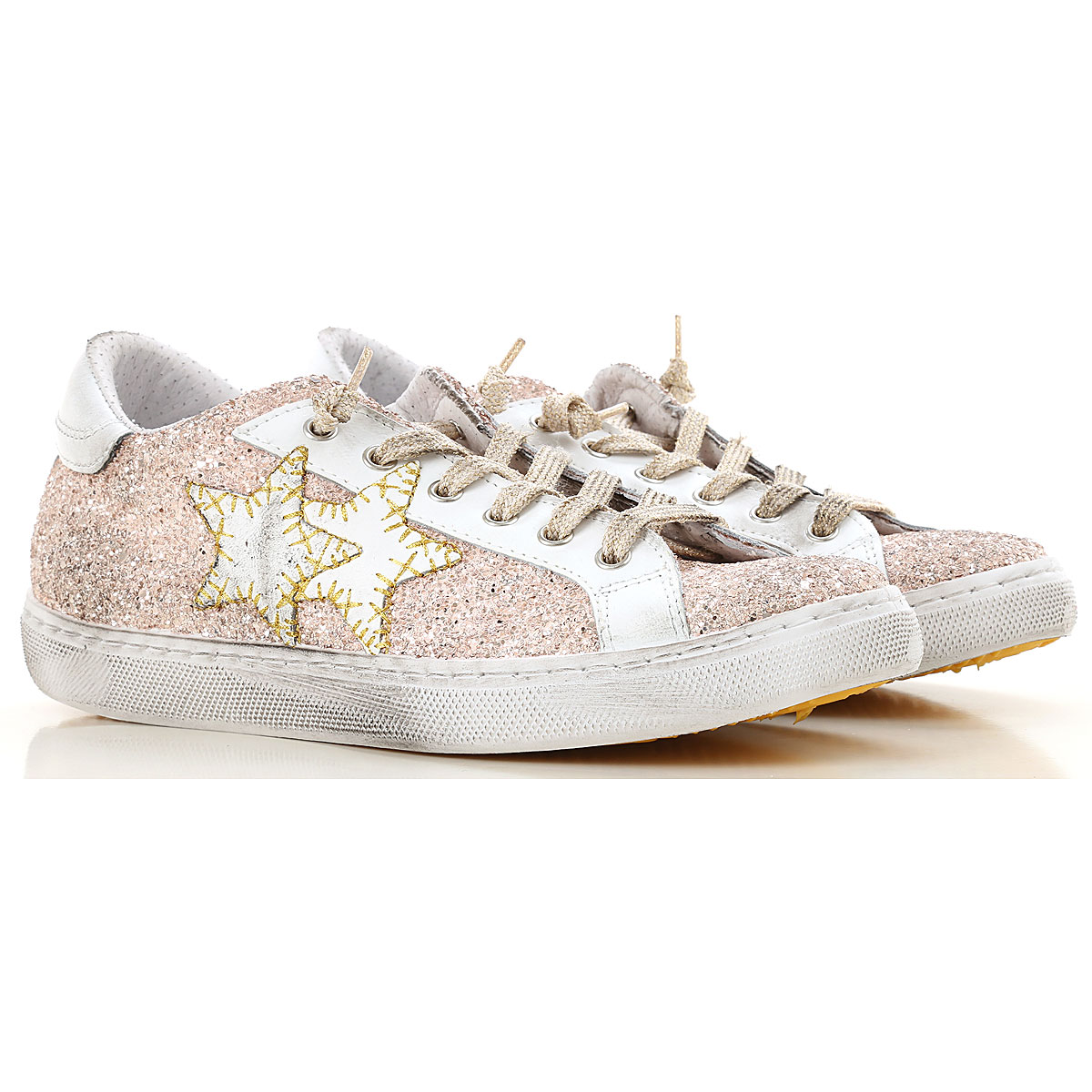 Image of 2Star Sneakers for Women, Pink, Glitter, 2017, 10 11 6 7 8 9
