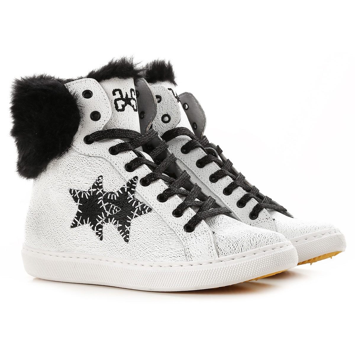 Image of 2Star Sneakers for Women, White, Coated Canvas, 2017, 10 11 7 8 9