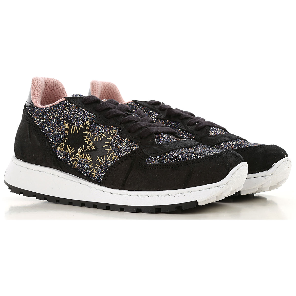 Image of 2Star Sneakers for Women, Black, suede, 2017, 10 6 7 8 9