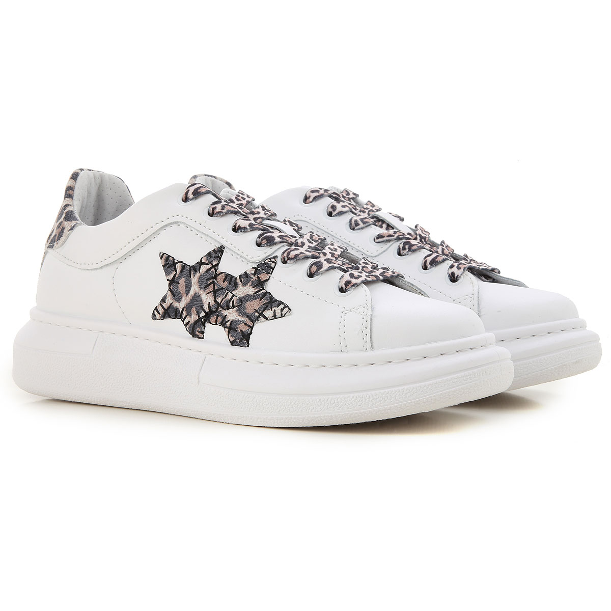 2Star Sneakers for Women On Sale, White, Leather, 2019, 10 11 7 8 9