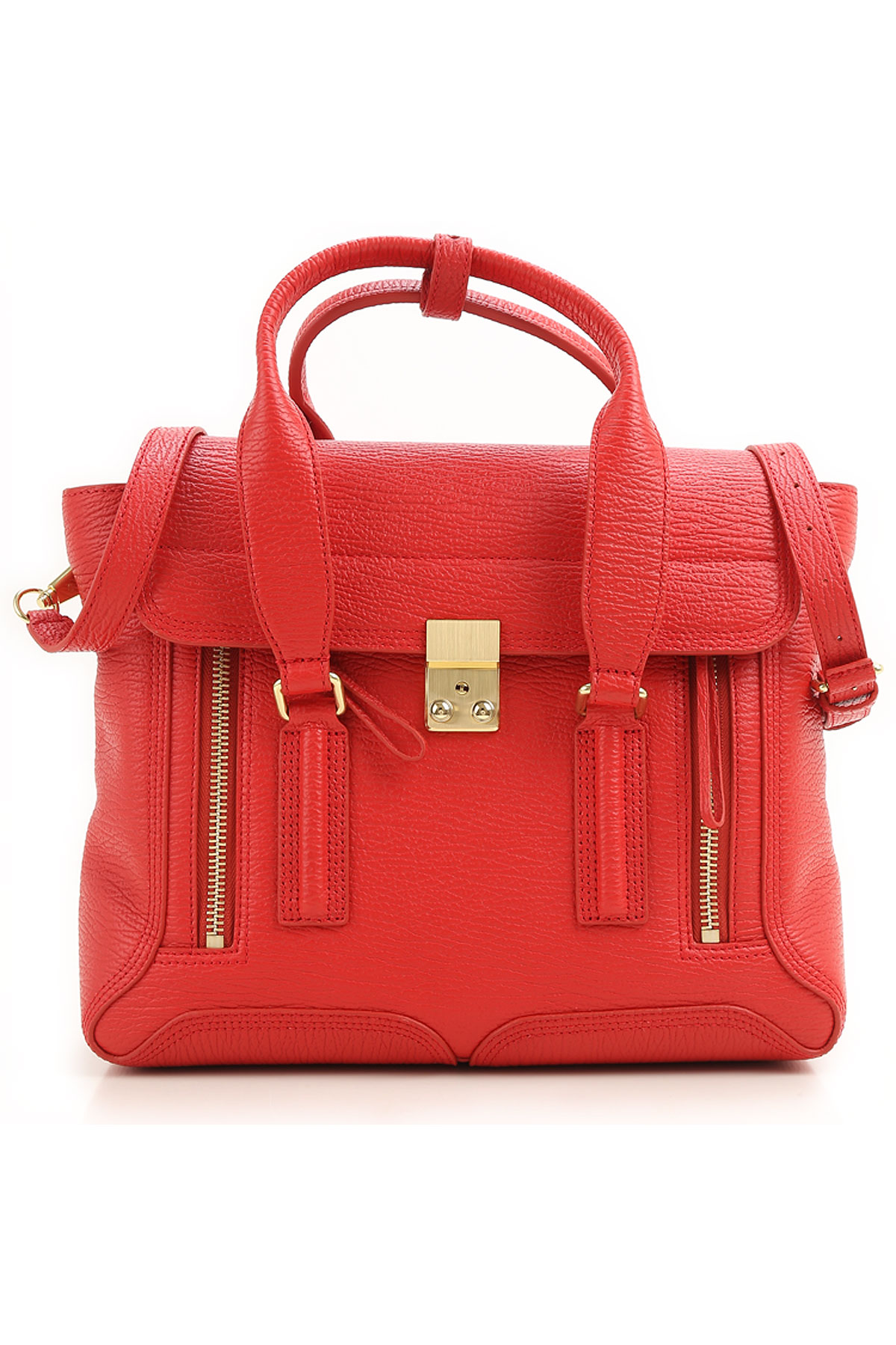 3.1 PHILLIP LIM Tote Bag On Sale, Red, Leather, 2017