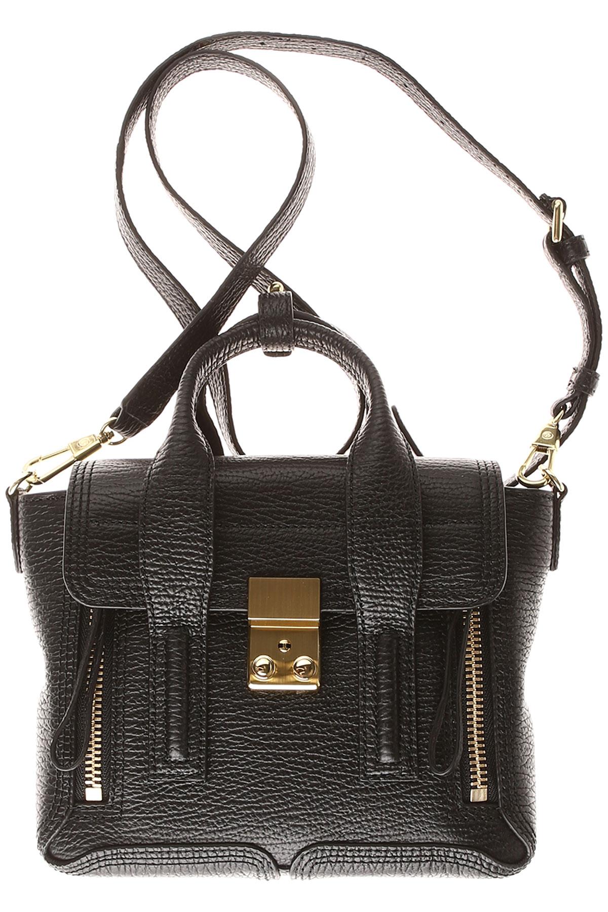 Image of 3.1 PHILLIP LIM Top Handle Handbag, Black, Leather, 2017
