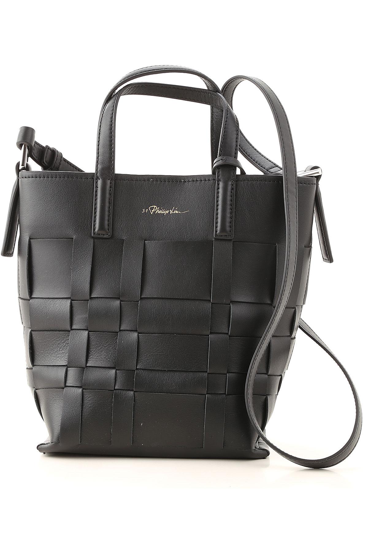 3.1 PHILLIP LIM Top Handle Handbag On Sale, Black, Leather, 2019