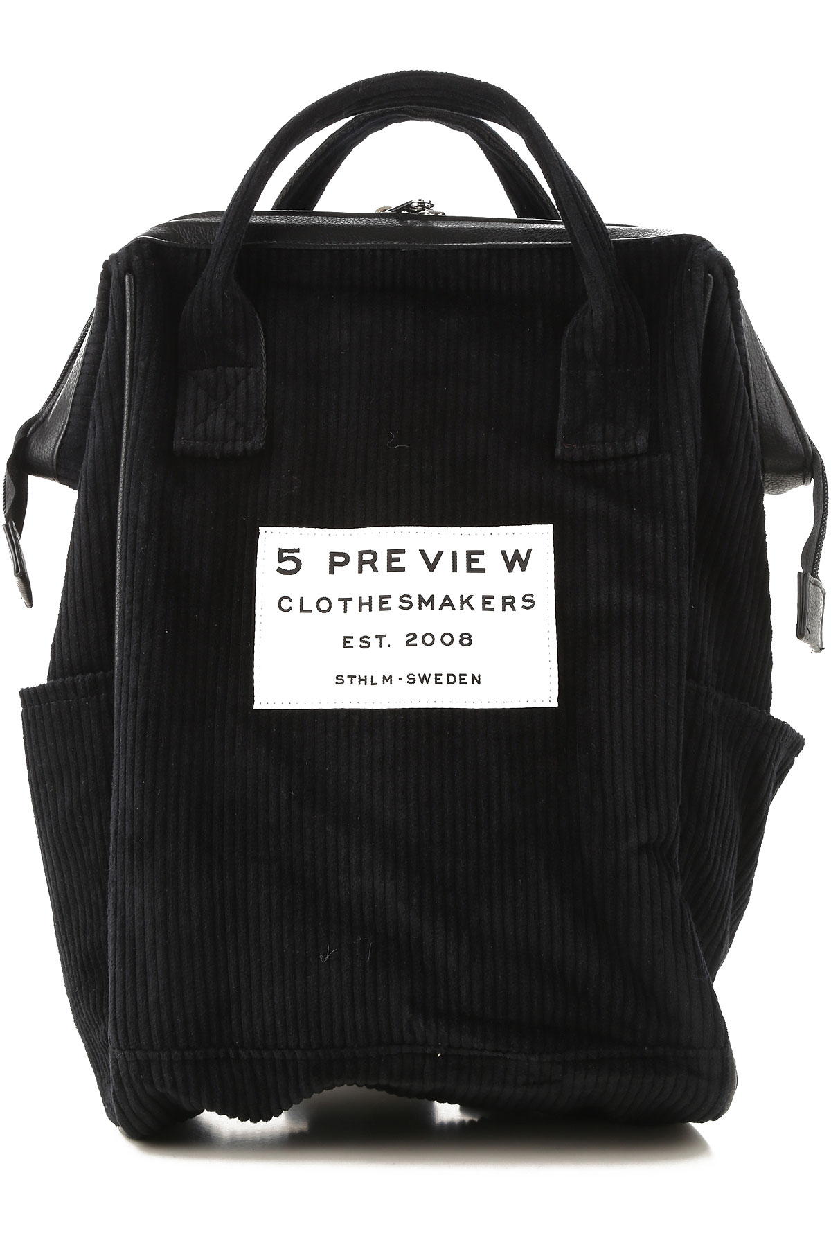 Image of 5 Preview Backpack for Women, Black, Cotton, 2017