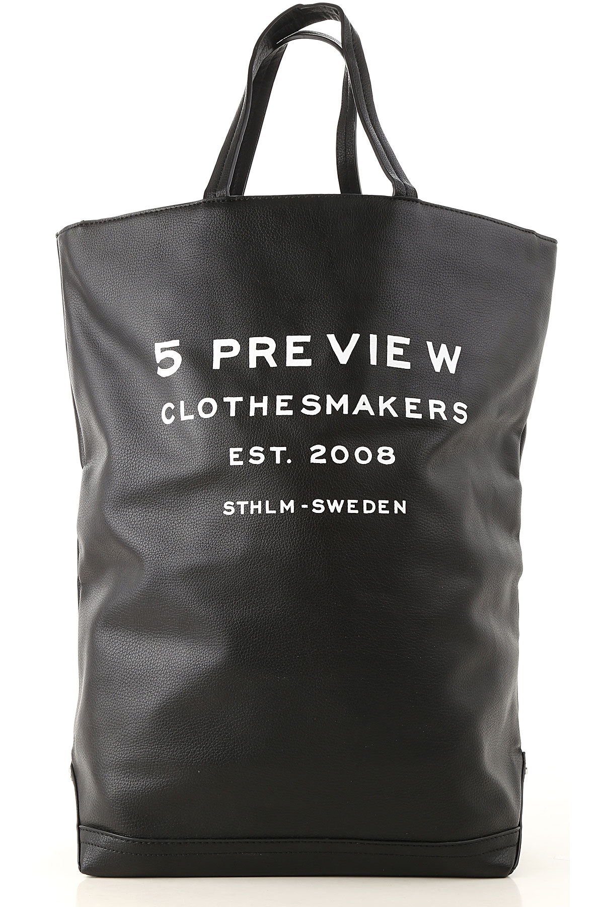 Image of 5 Preview Tote Bag, Black, Leather, 2017