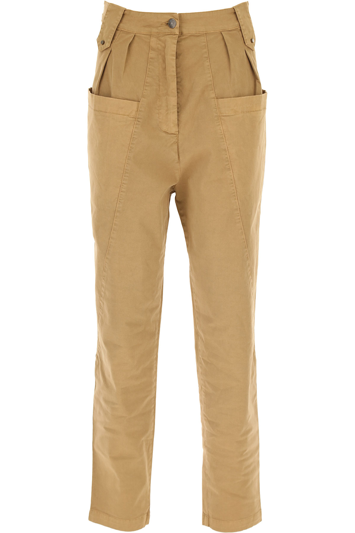 8 PM Pants for Women On Sale, Brown, Cotton, 2019, 4 6 8