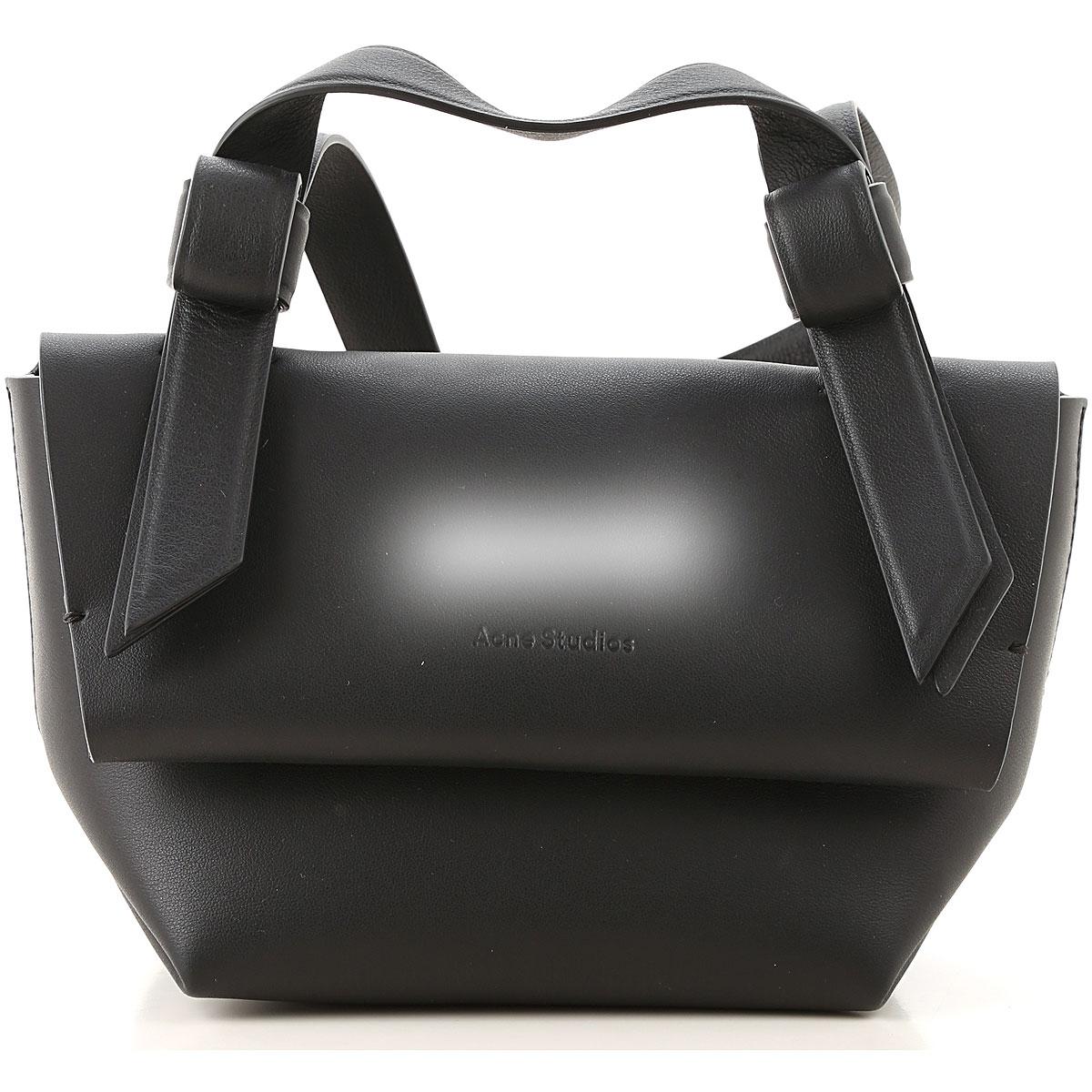 Acne Studios Shoulder Bag for Women, Black, Leather, 2017