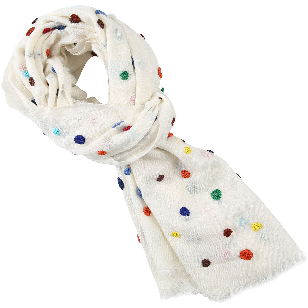 032c Scarf for Women On Sale, Ivory, Wool, 2019