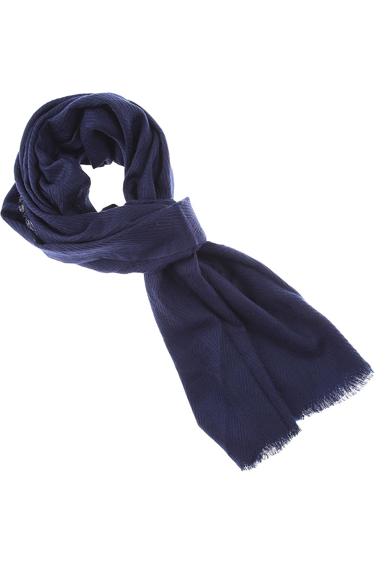 032c Scarf for Women On Sale, Night Blue, Wool, 2019