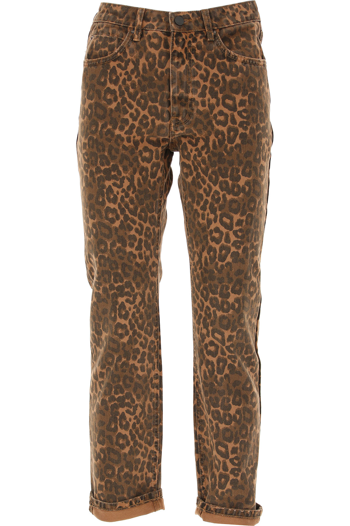 Image of Alexander Wang Jeans, Leopard, Cotton, 2017, 26 27 30