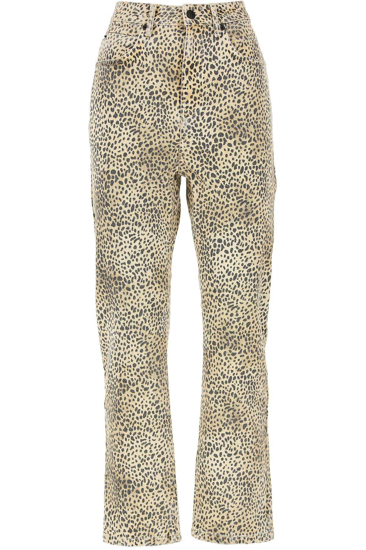 Alexander Wang Pants for Women On Sale, Leopard, Cotton, 2019, 25 26 27 28