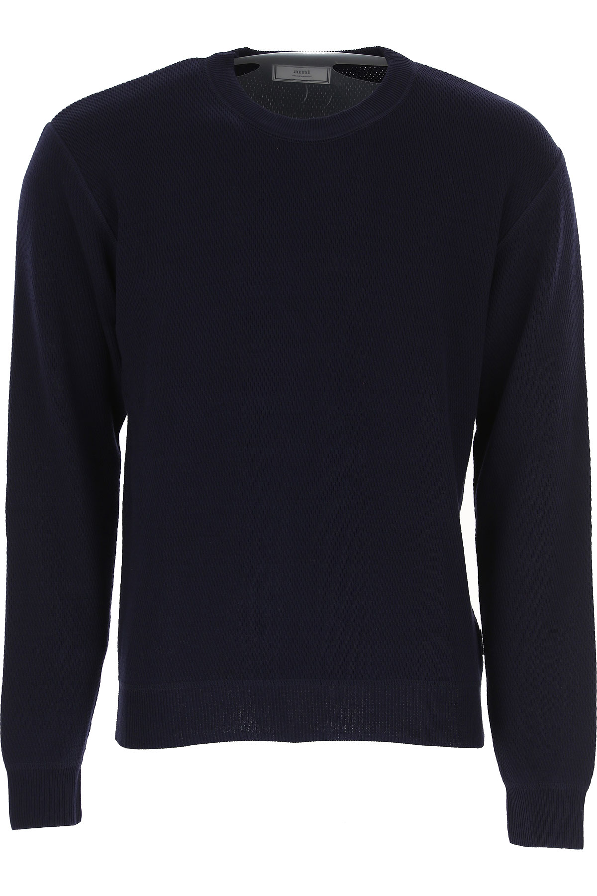 Image of Ami Sweater for Men Jumper, Ink Blue, Cotton, 2017, L S