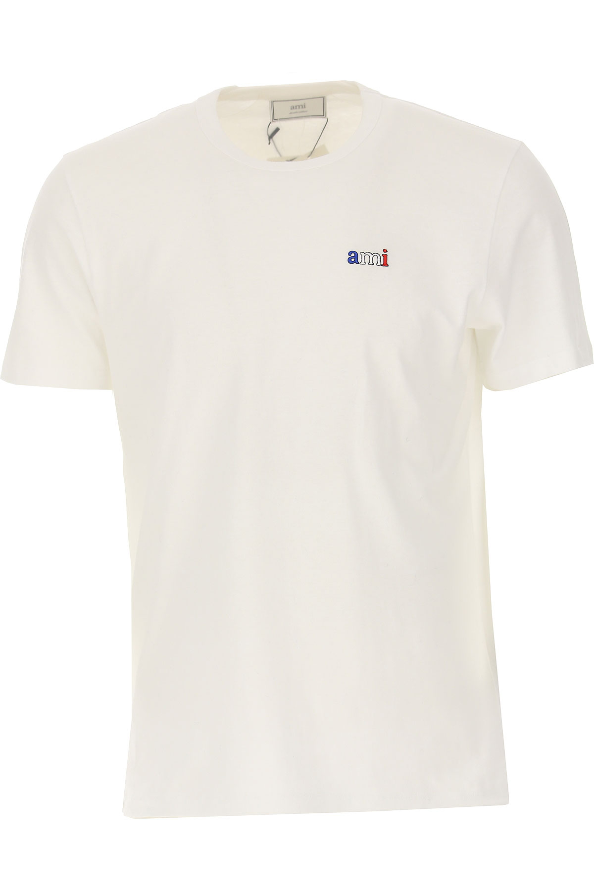 Ami T-Shirt for Men On Sale, White, Cotton, 2019, S XL