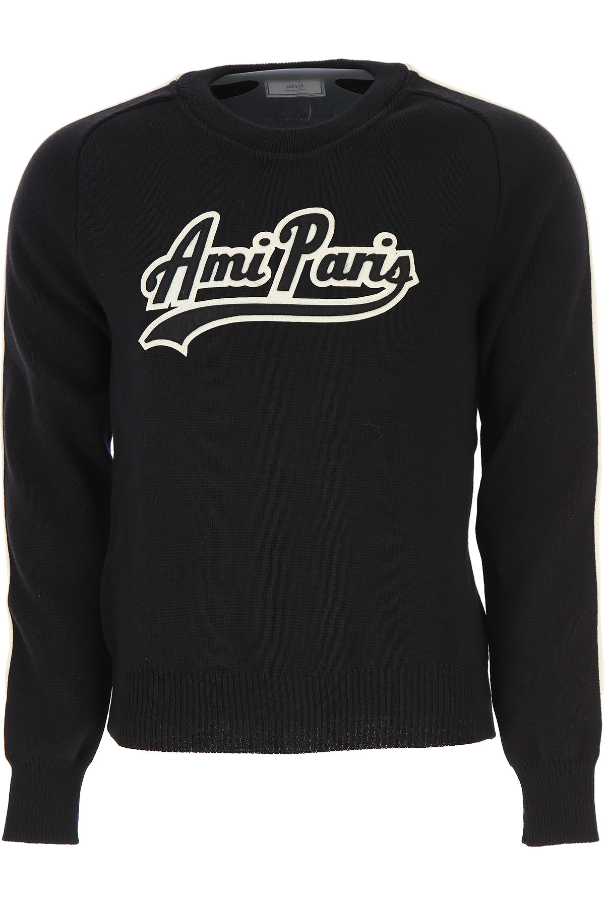 Image of Ami Sweater for Men Jumper, Black, Wool, 2017, L M XL