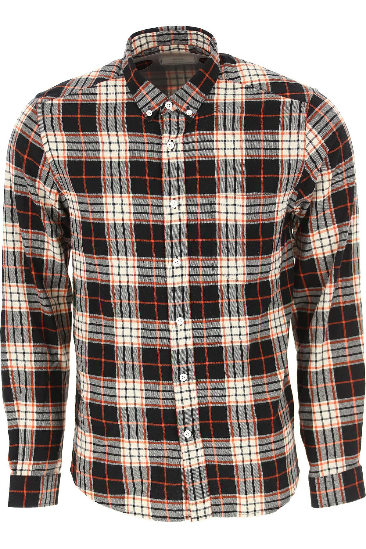 Ami Shirt for Men, Orange, Cotton, 2019, 15.5 15.75 16.5