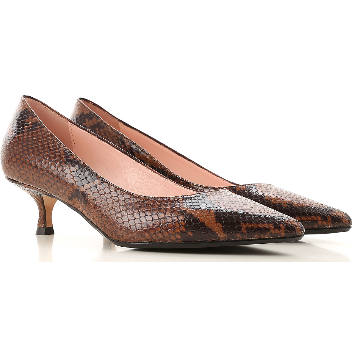 Anna F. Pumps & High Heels for Women, tabacco, Leather, 2019, 6 8