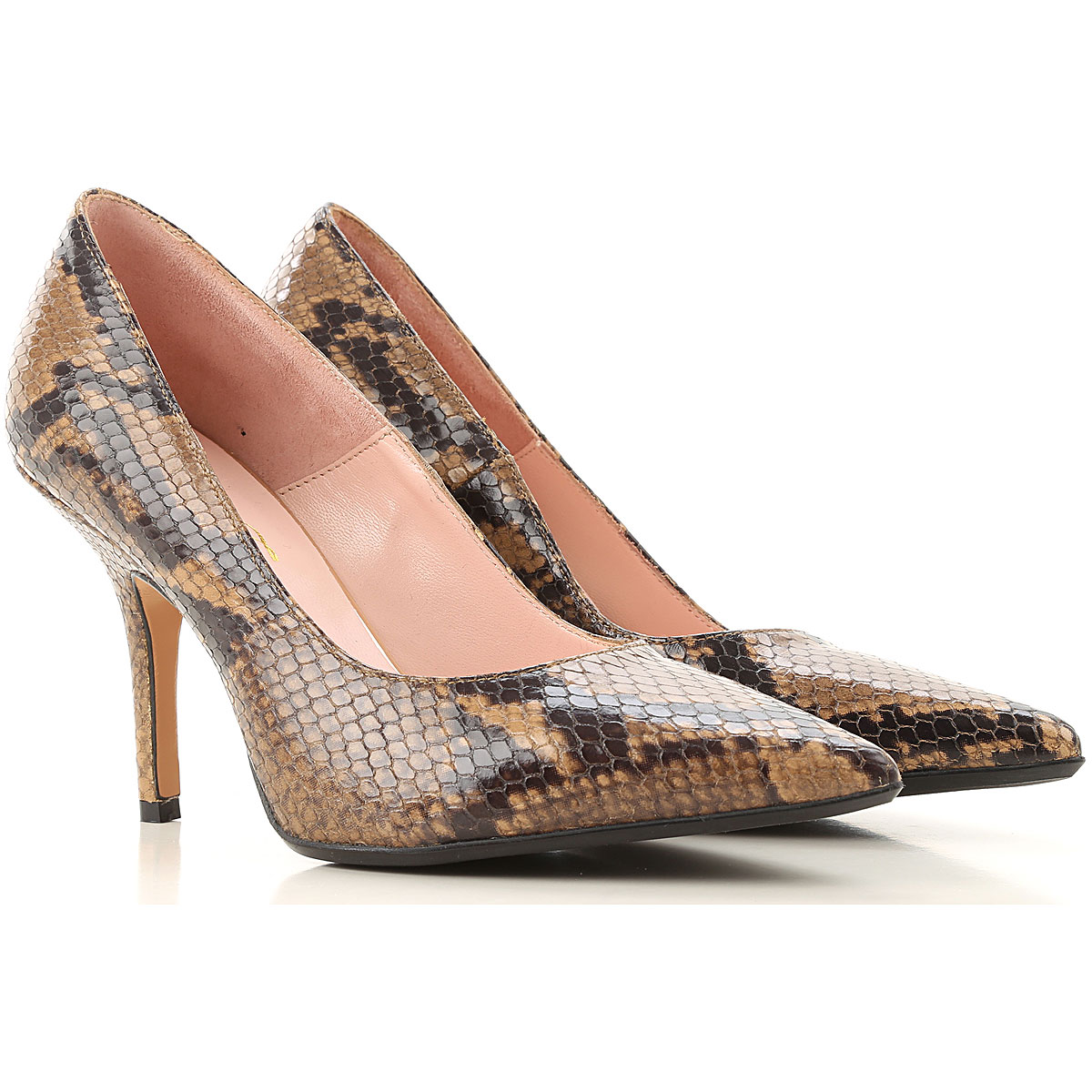 Anna F. Pumps & High Heels for Women On Sale, Brown, Leather, 2019, 10 11 6 7 8.5