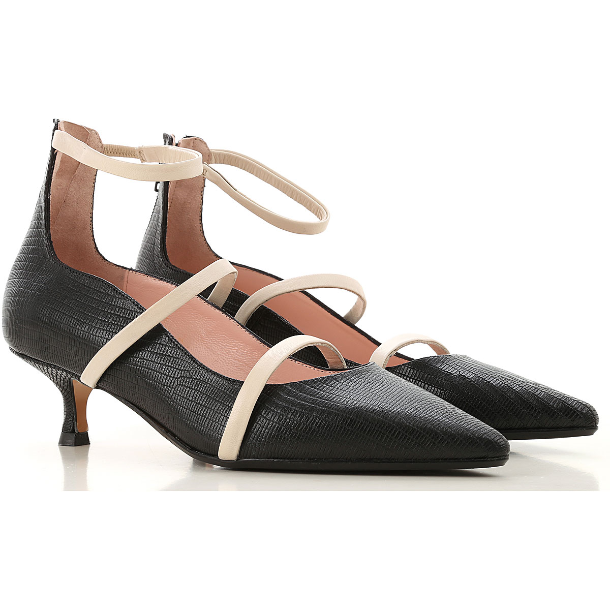 Anna F. Pumps & High Heels for Women On Sale, Black, Leather, 2019, 10 6