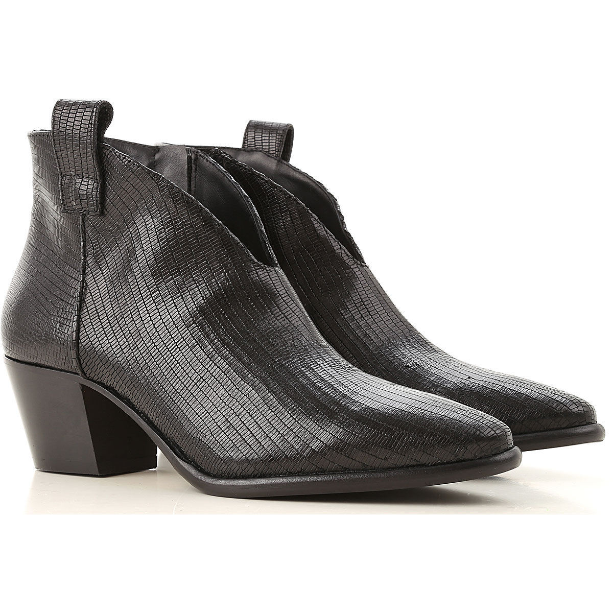 Anna F. Boots for Women, Booties On Sale, Black, Leather, 2019, 11 6 6.5 9.5