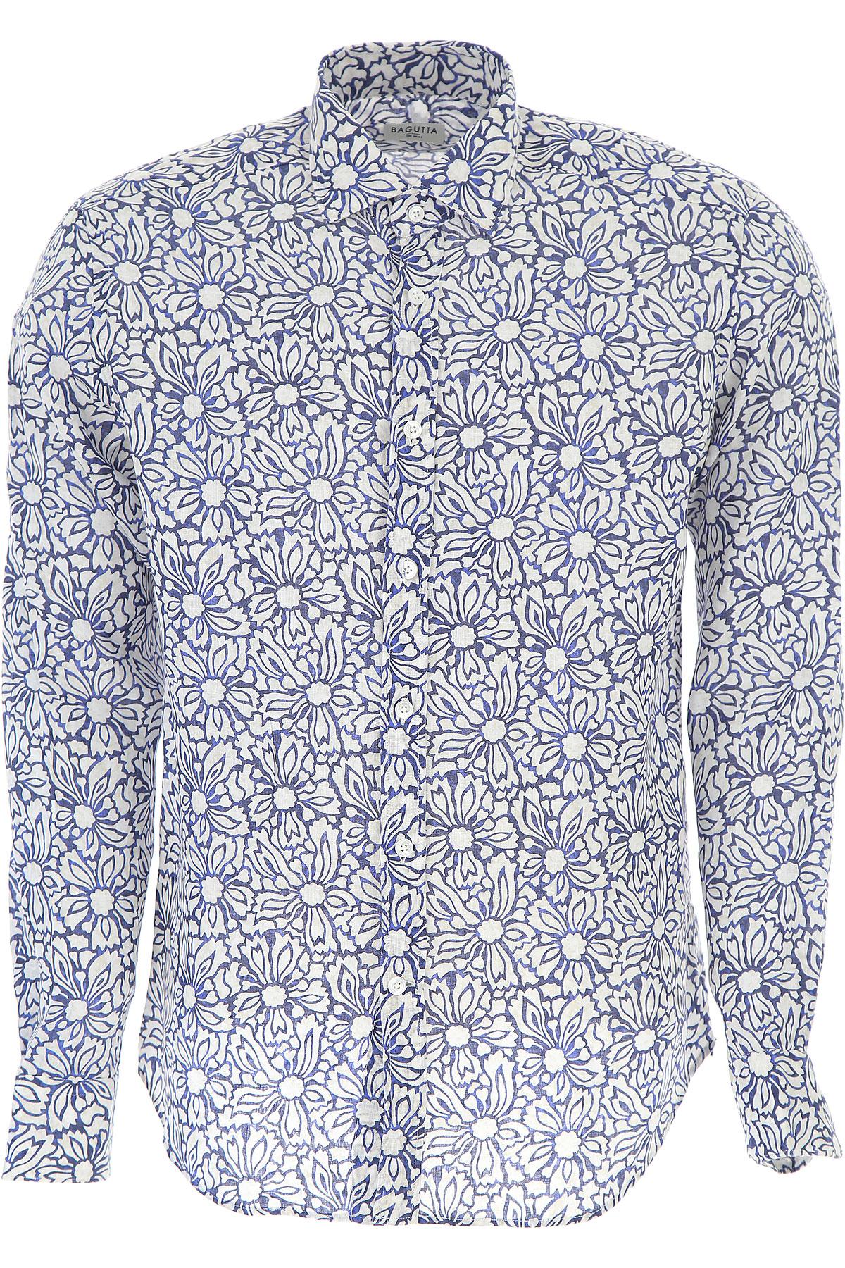 Image of Bagutta Shirt for Men On Sale, White, linen, 2017, S XL