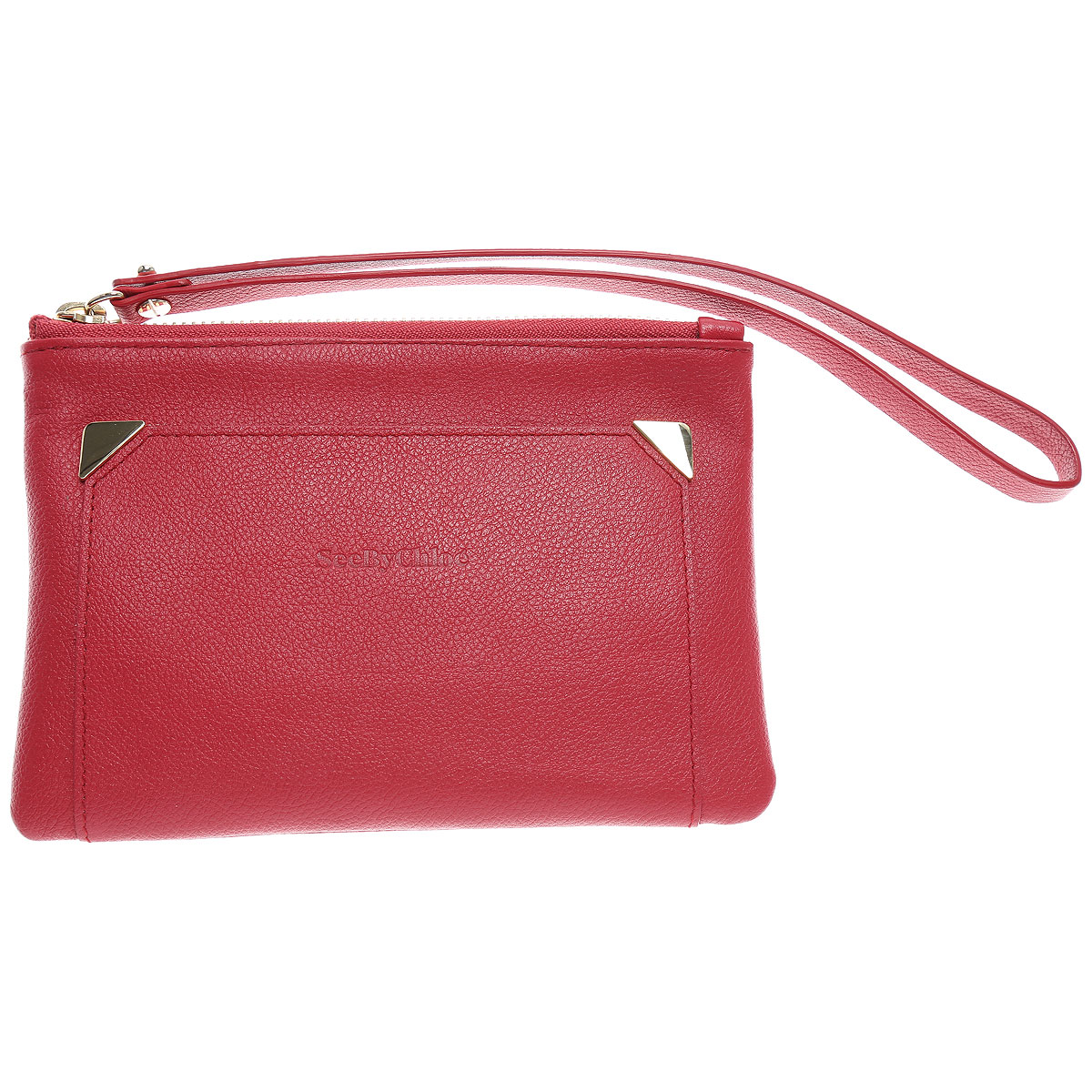 Image of Chloe Women\'s Pouch, Red, Leather, 2017
