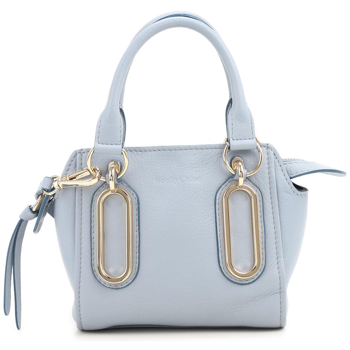 Chloe Tote Bag, Azure, Leather, 2017 USA-355300