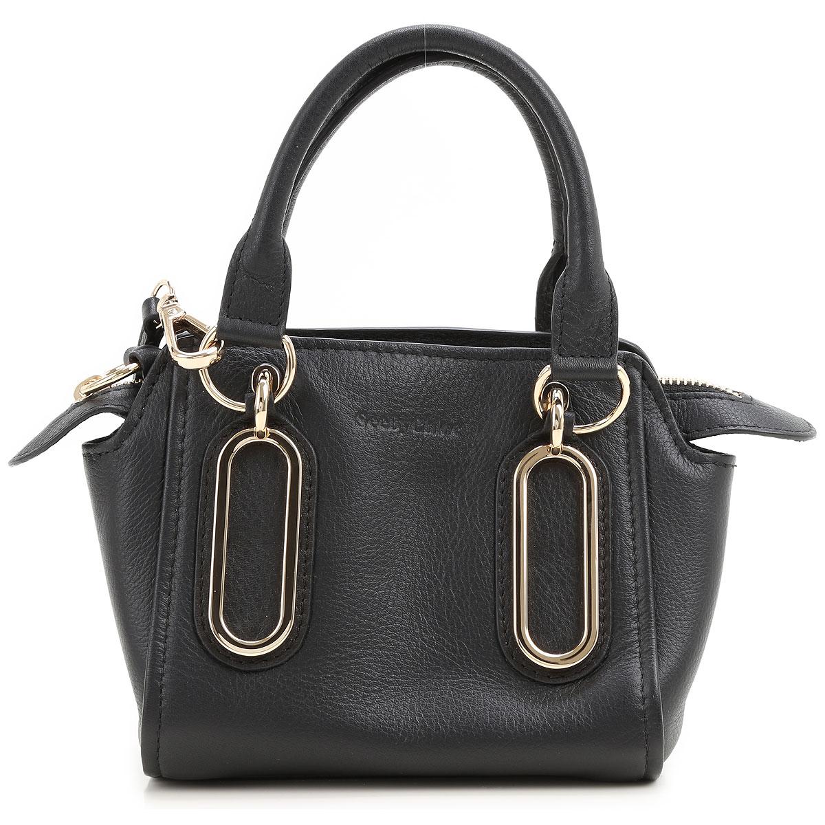 Image of Chloe Clutch Bag, Black, Leather, 2017