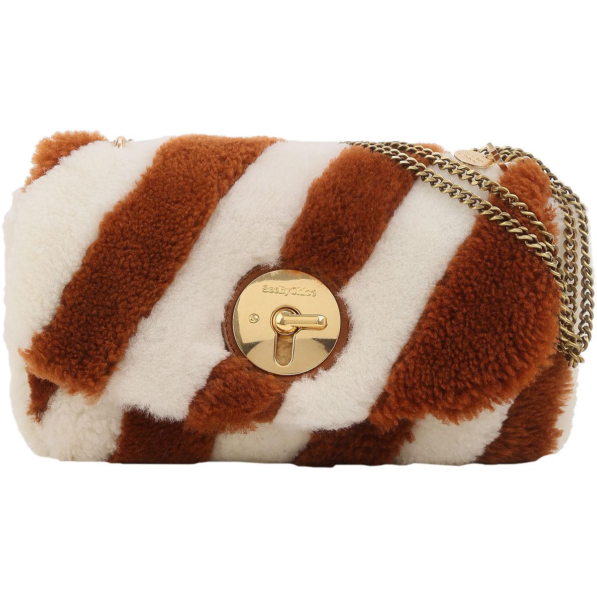 See By Chloe Handbags On Sale, White, Wool, 2019