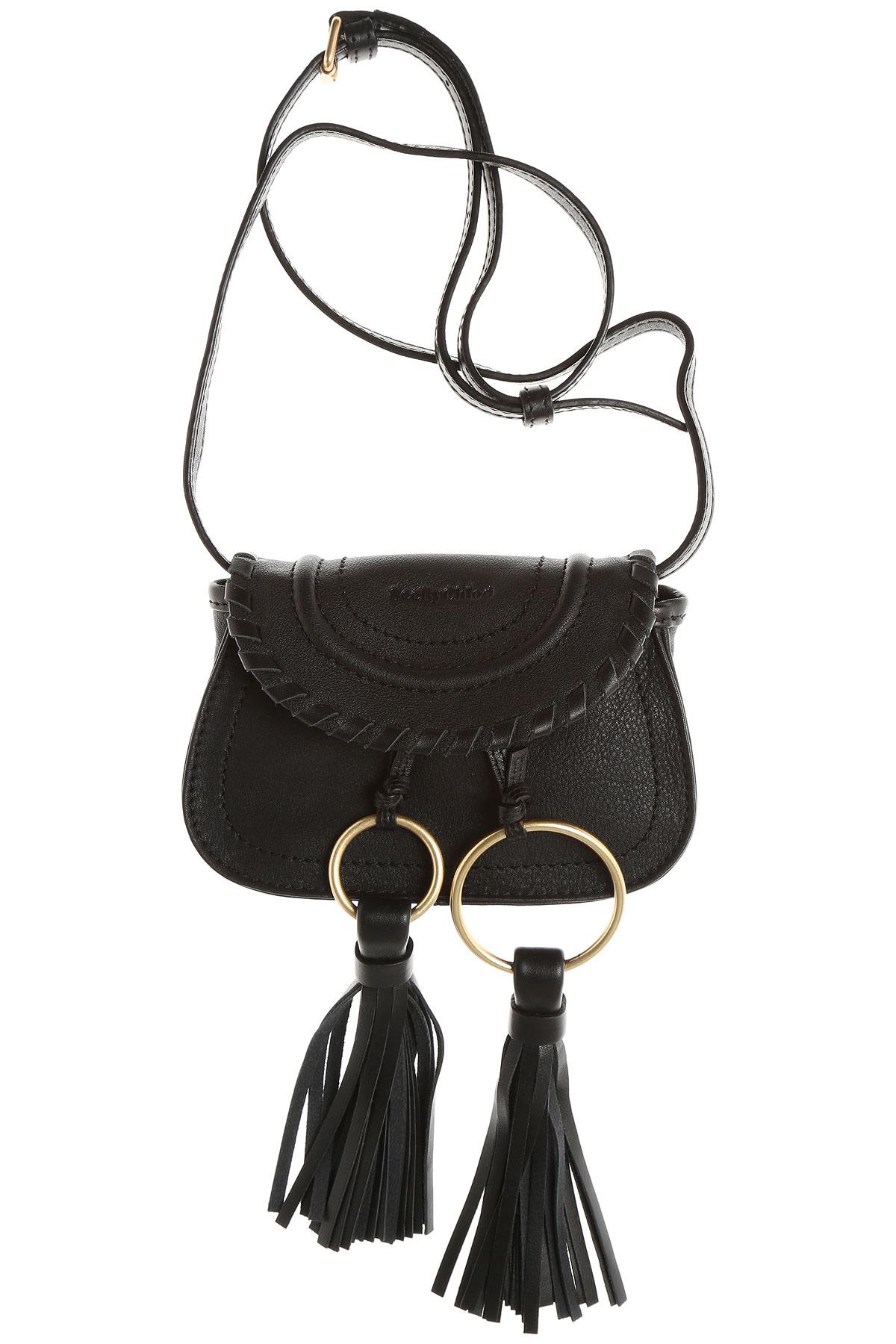 Chloe Shoulder Bag for Women, Black, Leather, 2017
