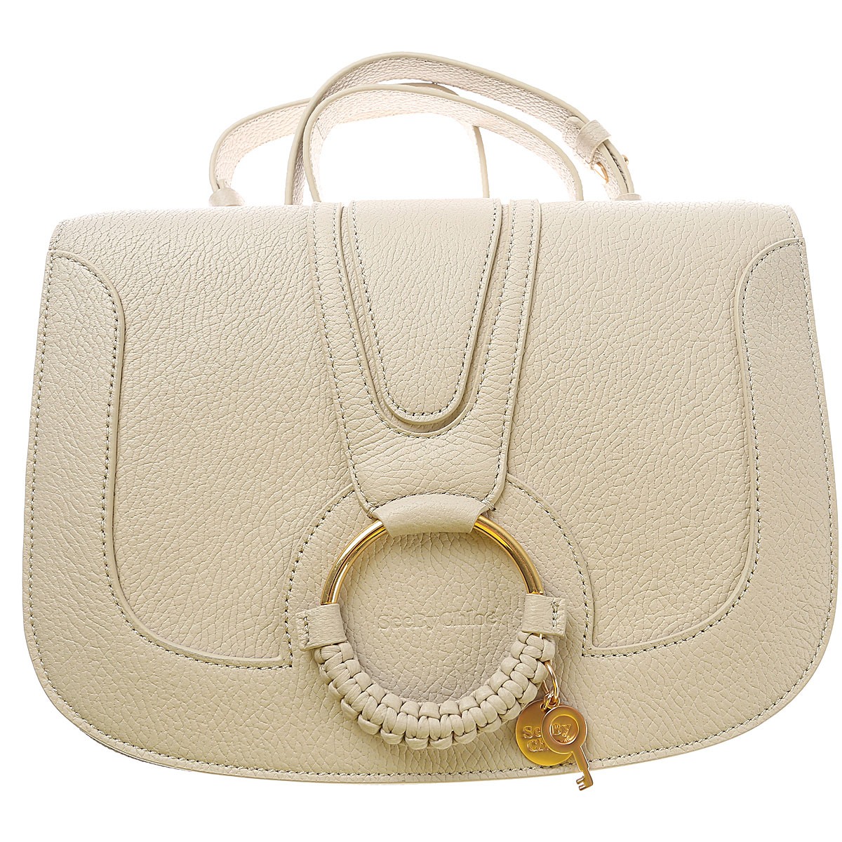 See By Chloe Shoulder Bag for Women On Sale, See By Chloe, Dirty White Melange, Leather, 2019