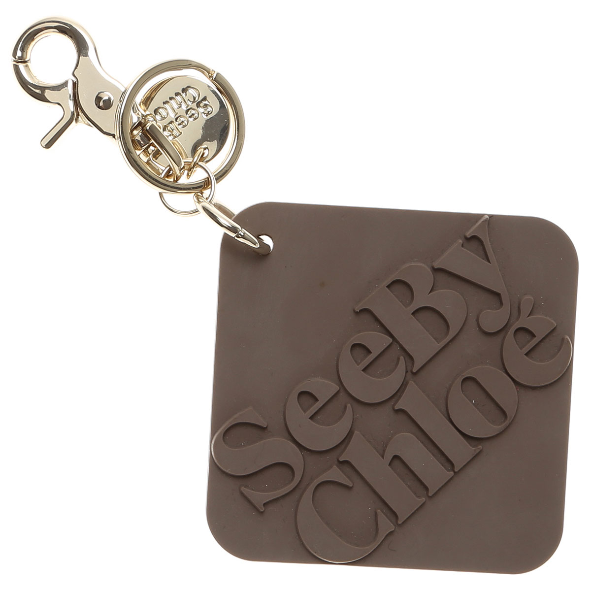 Image of Chloe Key Chain for Women, Key Ring, Taupe, Zinc, 2017