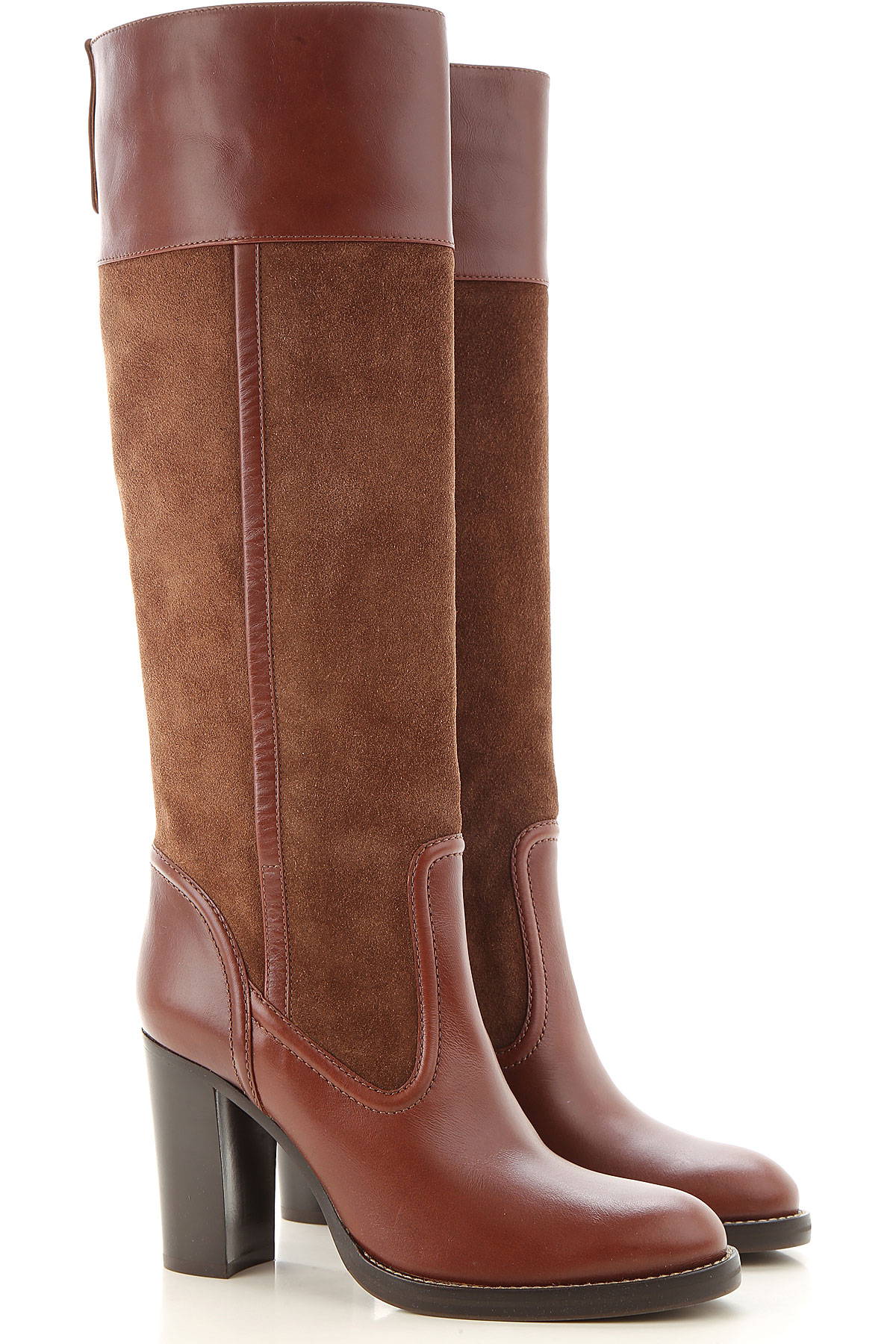 Chloe Boots for Women, Booties On Sale, Roasted Brown, suede, 2019, 10 6 6.5 7 8