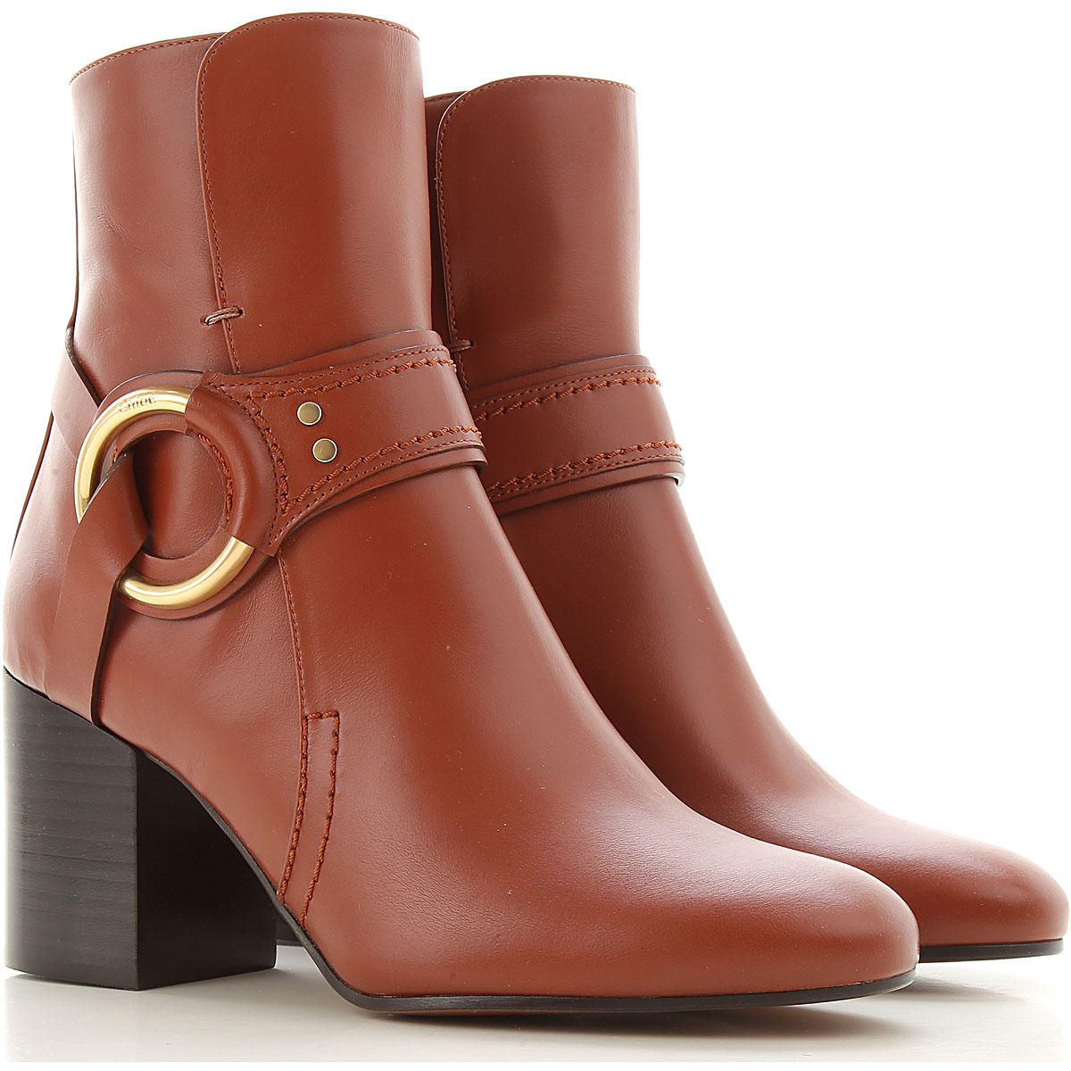 Chloe Boots for Women, Booties On Sale, Sepia Brown, Leather, 2019, 10 6 6.5 7 8 8.5 9