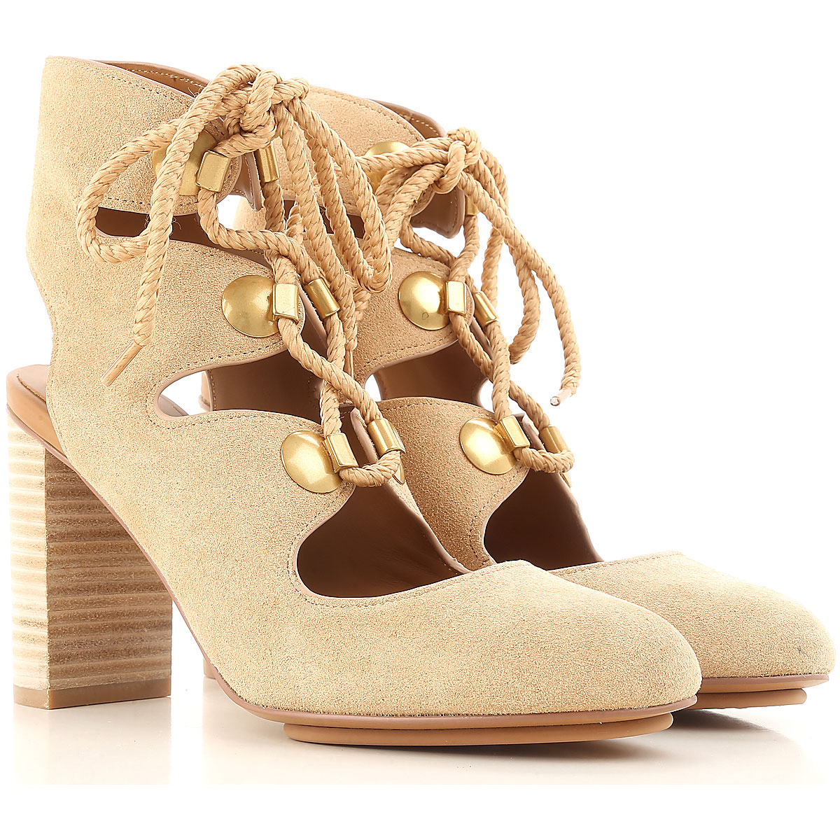 See By Chloe Pumps & High Heels for Women On Sale in Outlet, Beige, Suede leather, 2019, 8 9