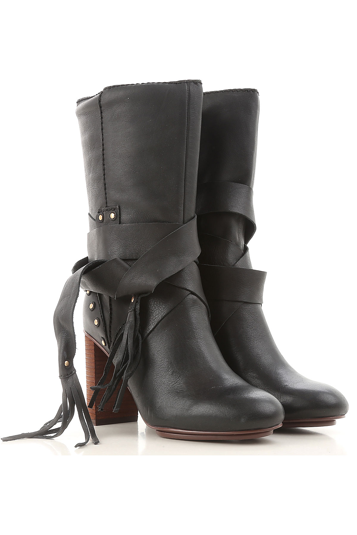 See By Chloe Boots for Women, Booties On Sale in Outlet, Black, Leather, 2019, 7 9