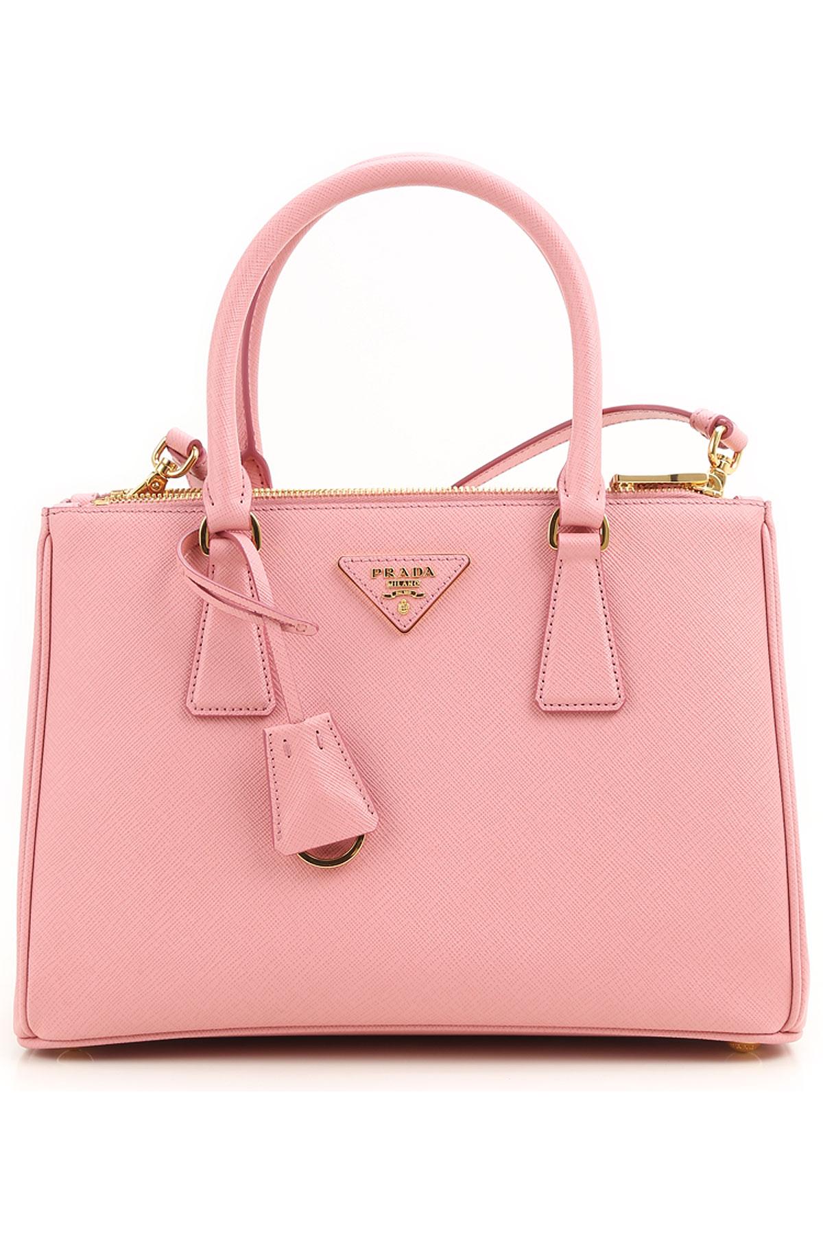Prada Top Handle Handbag On Sale, Petal, Saffiano, 2017