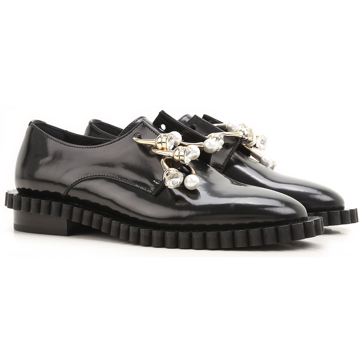 Image of Coliac Loafers for Women, Black, Leather, 2017, 5 6 6.5 7 8 8.5 9