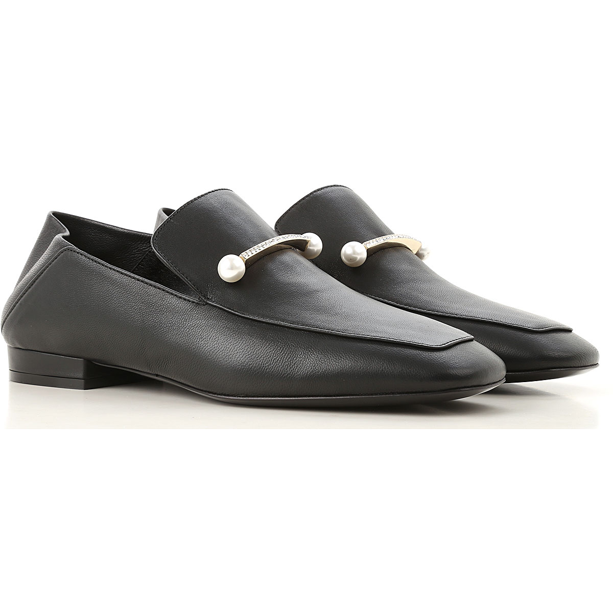 Image of Coliac Loafers for Women, Black, Leather, 2017, 5 6 6.5 7 8 9