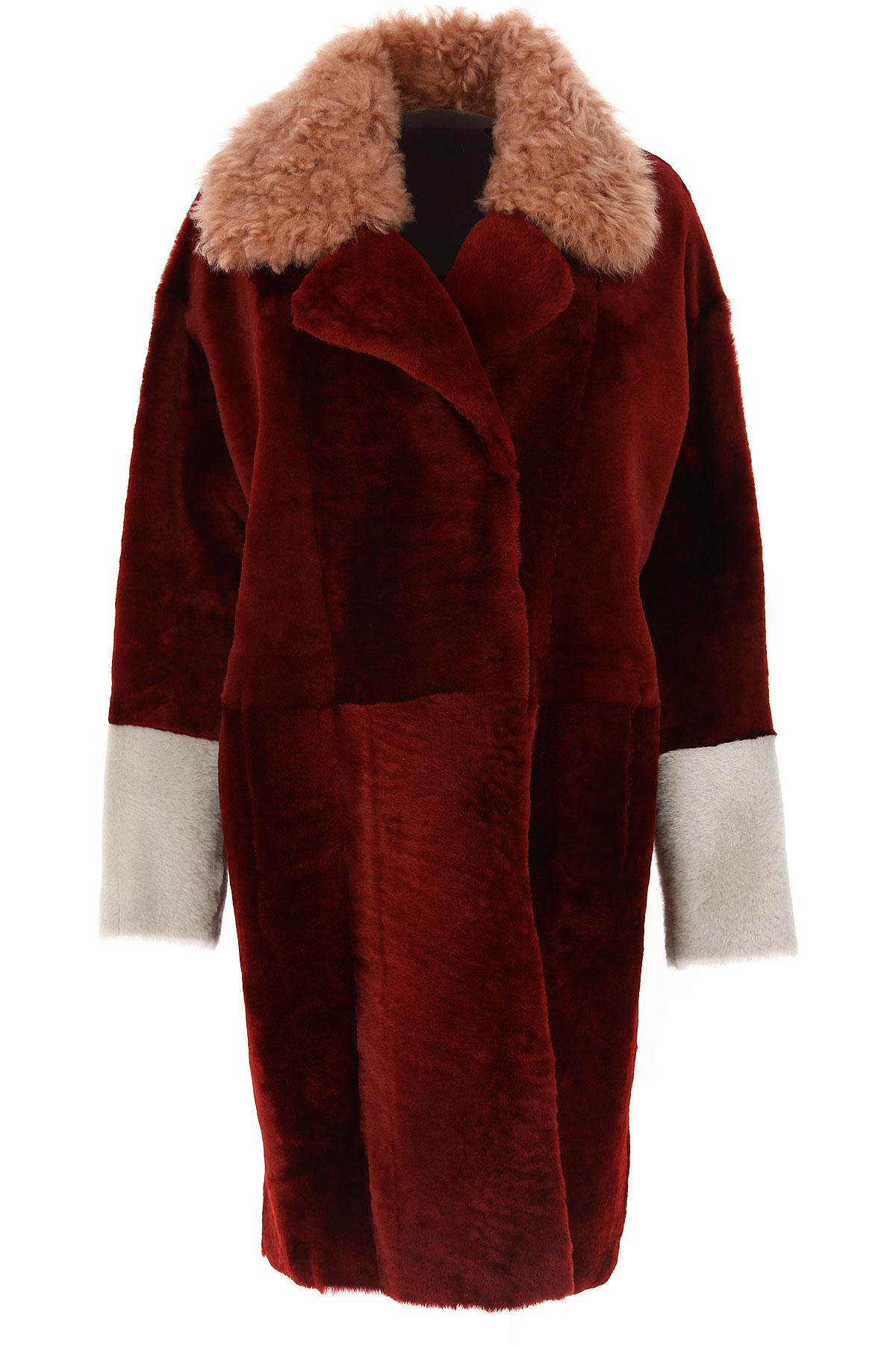 Image of Drome Women\'s Coat, Red, Fur, 2017, 4 6