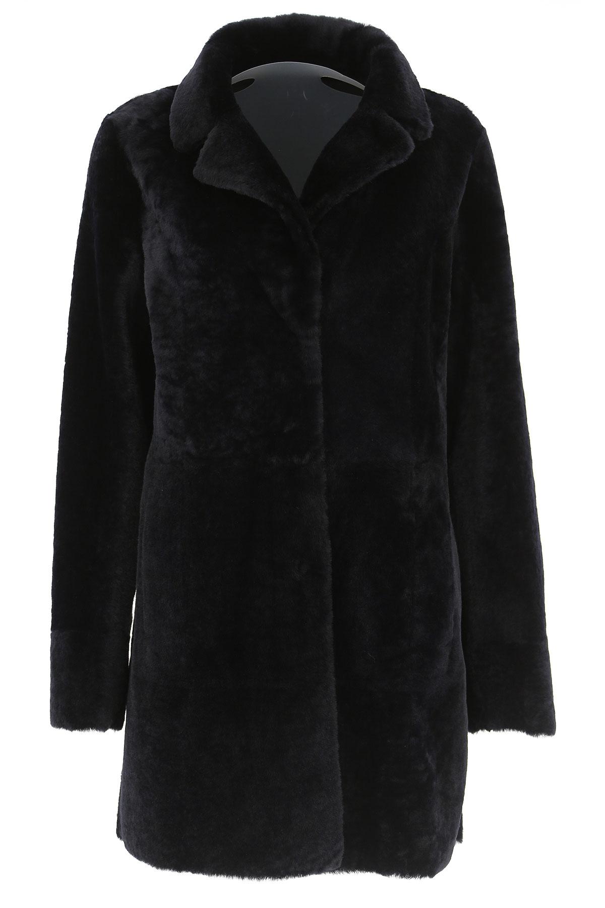 Image of Drome Women\'s Coat, Black, Fur, 2017, 4 6 8