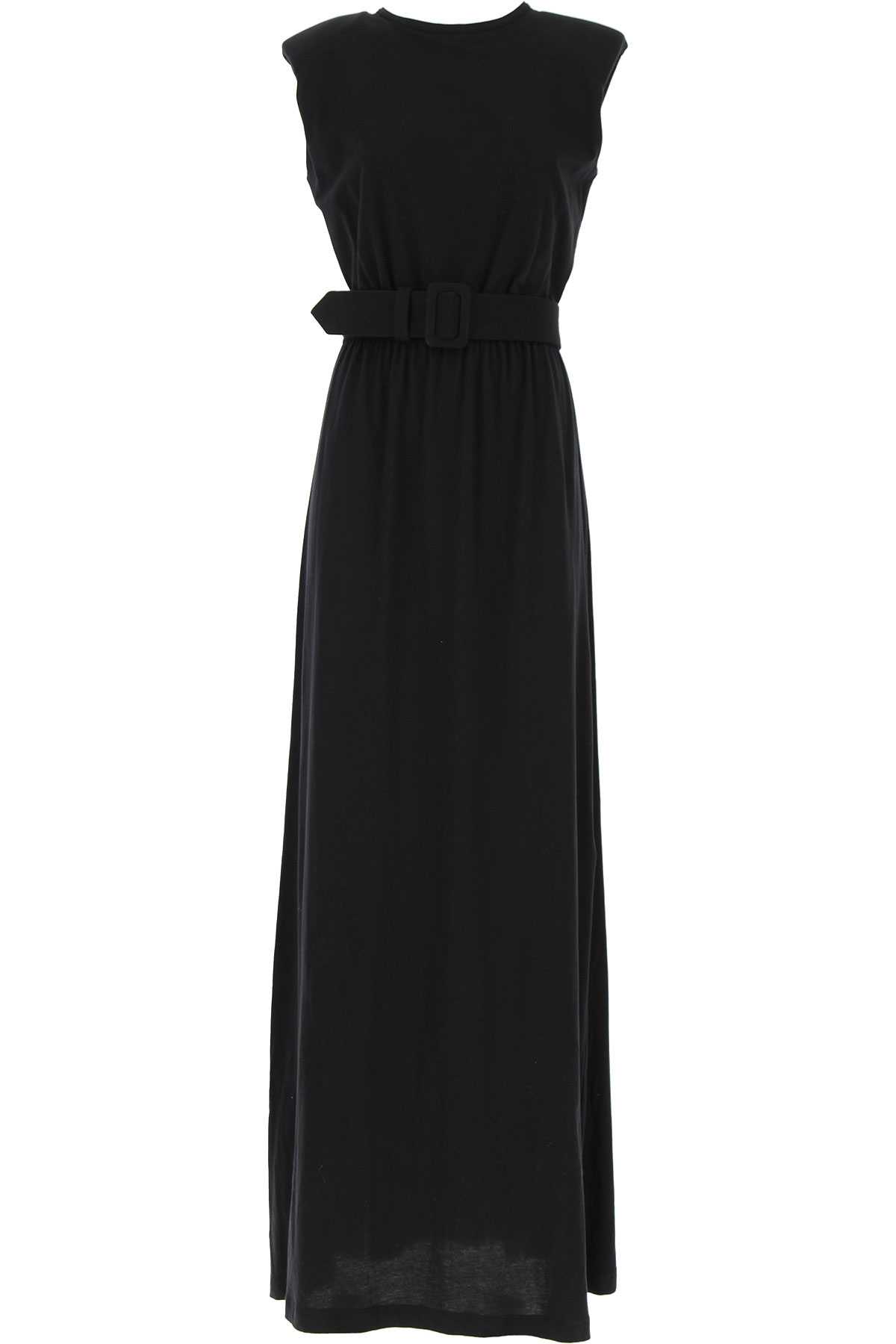 Federica Tosi Dress for Women, Evening Cocktail Party On Sale, Black, Cotton, 2019, 2 4 6 8