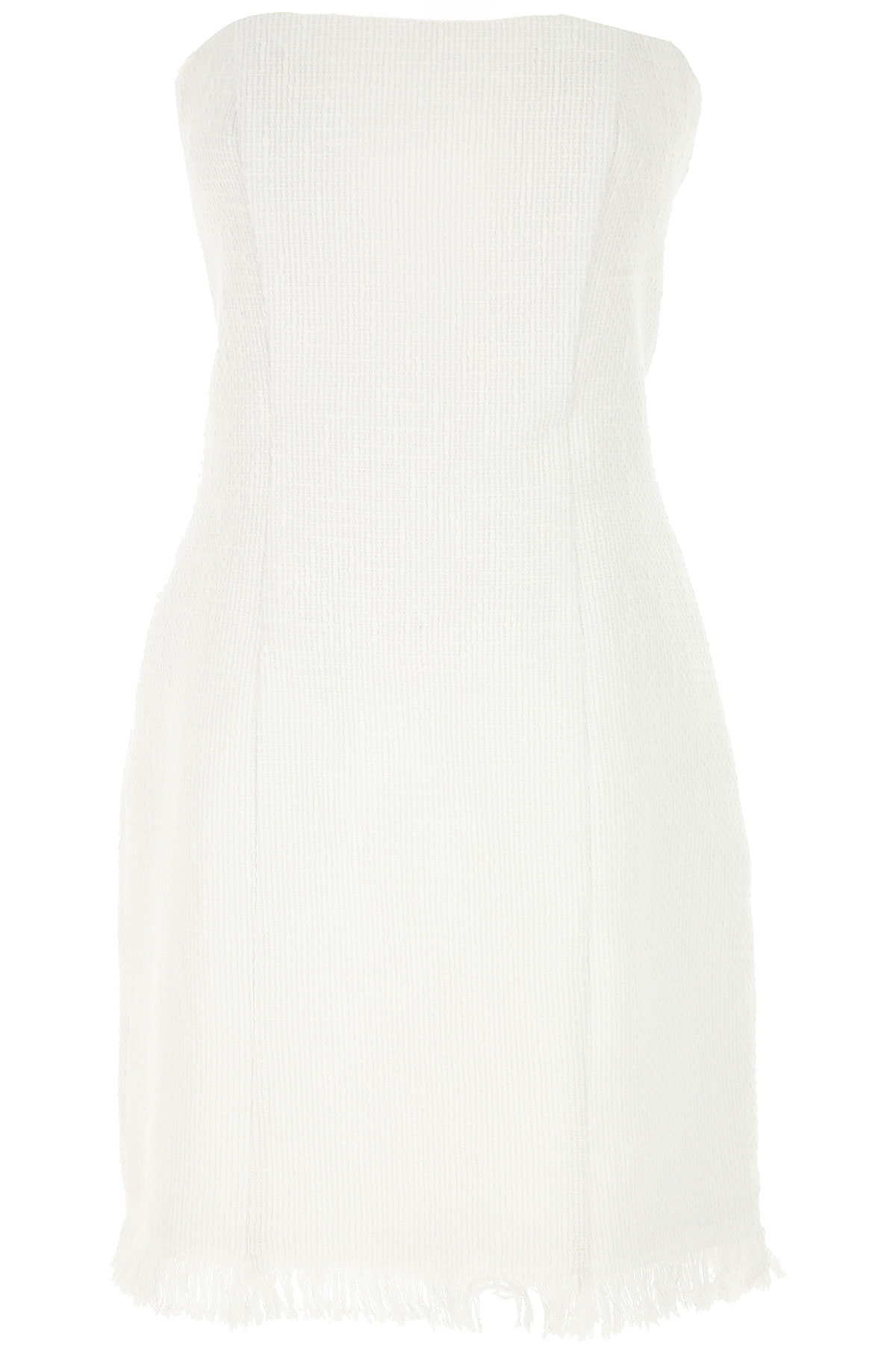 Federica Tosi Dress for Women, Evening Cocktail Party On Sale, White, Cotton, 2019, 2 4 6