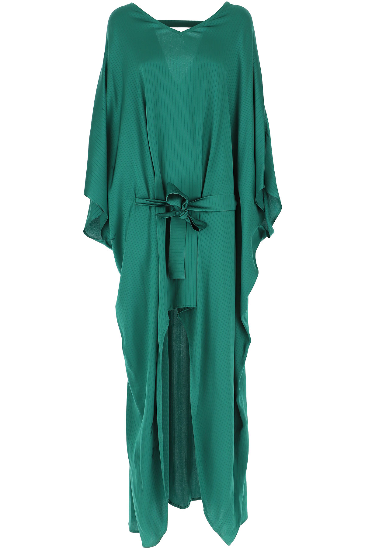 Federica Tosi Dress for Women, Evening Cocktail Party On Sale, Green, Viscose, 2019, 2 4