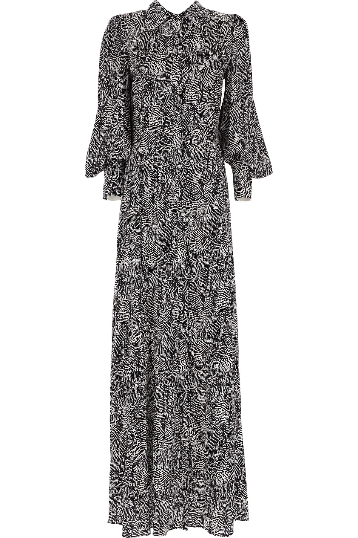 Federica Tosi Dress for Women, Evening Cocktail Party On Sale, Black, Silk, 2019, 2 4
